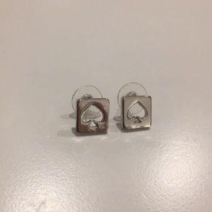 Kate spade silver spade earrings